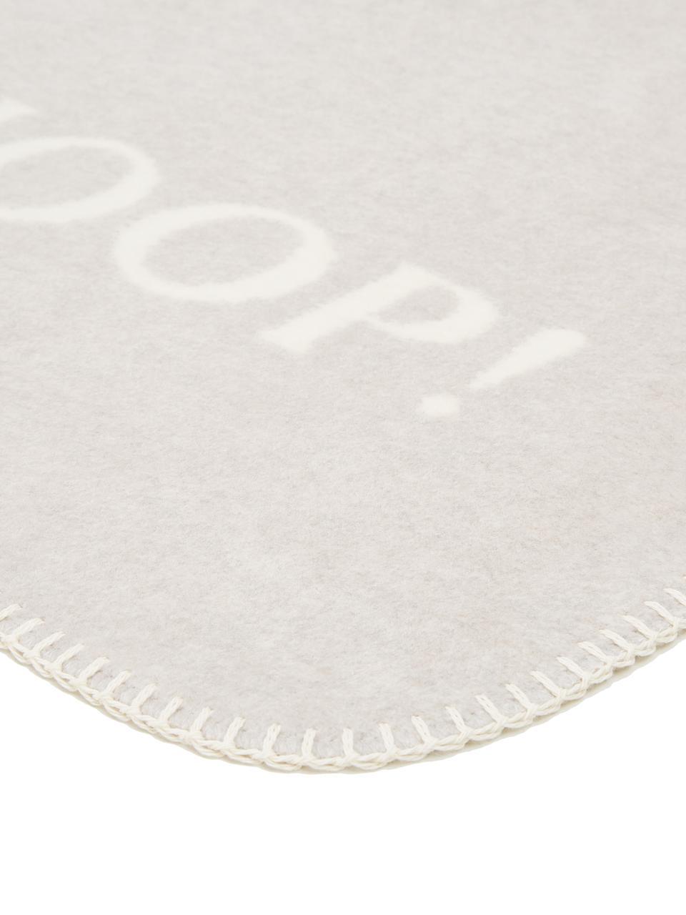 Plaid in pile reversibile Uni Doubleface, 58% cotone, 35% poliacrilico, 7% poliestere, Grigio, ecru, Larg. 150 x Lung. 200 cm