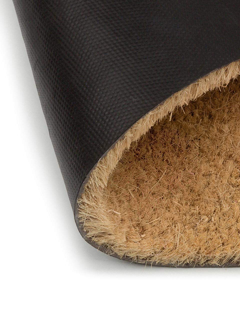 Zerbino in cocco Just For Your Home, Retro: materiale sintetico (PVC), Marrone, nero, Larg. 40 x Lung. 60 cm