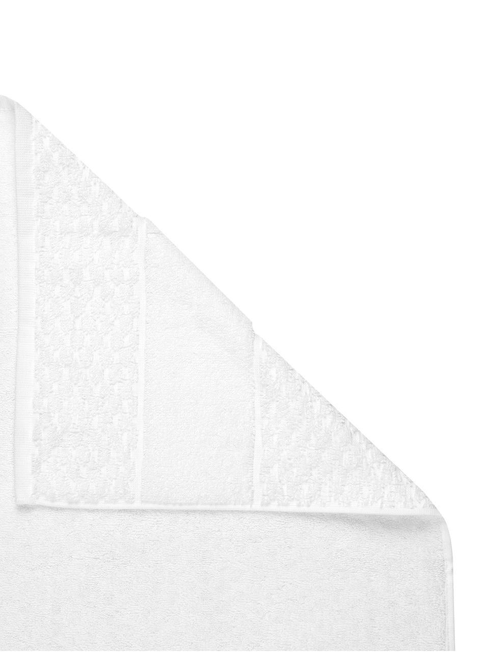 Handtuch Katharina in verschiedenen Größen, mit Wabenmuster, Weiß, Handtuch
