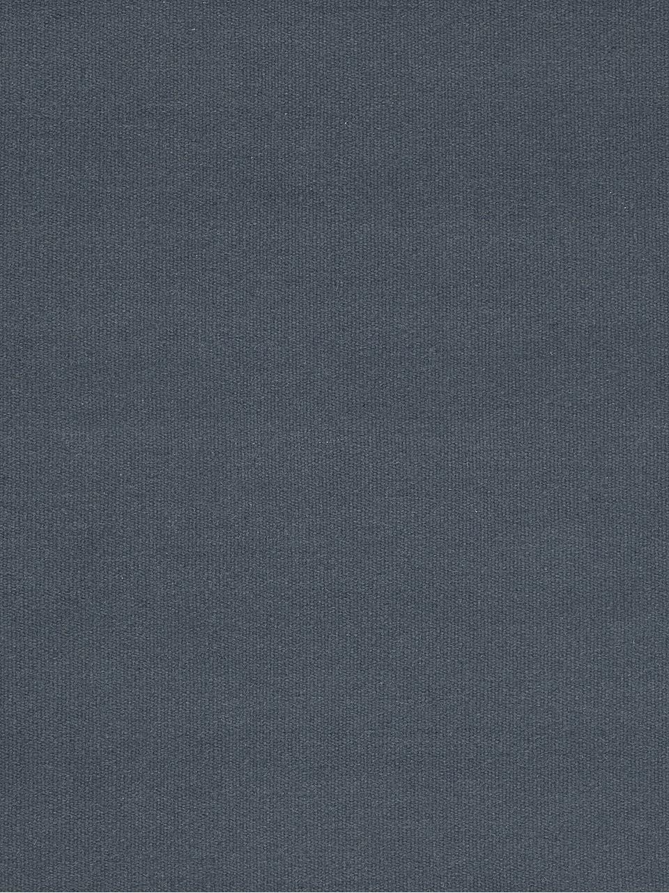 Handgewebter Wollteppich Rainbow in Blau mit Fransen, Fransen: 100% Baumwolle, Dunkelblau, B 200 x L 300 cm (Größe L)