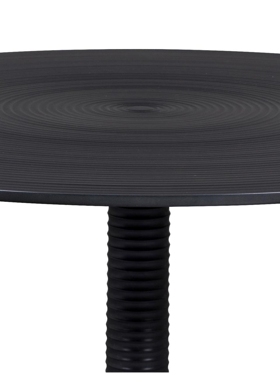 Runder Couchtisch Hypnotising in Schwarz, Aluminium, lackiert, Schwarz, Ø 77 x H 40 cm