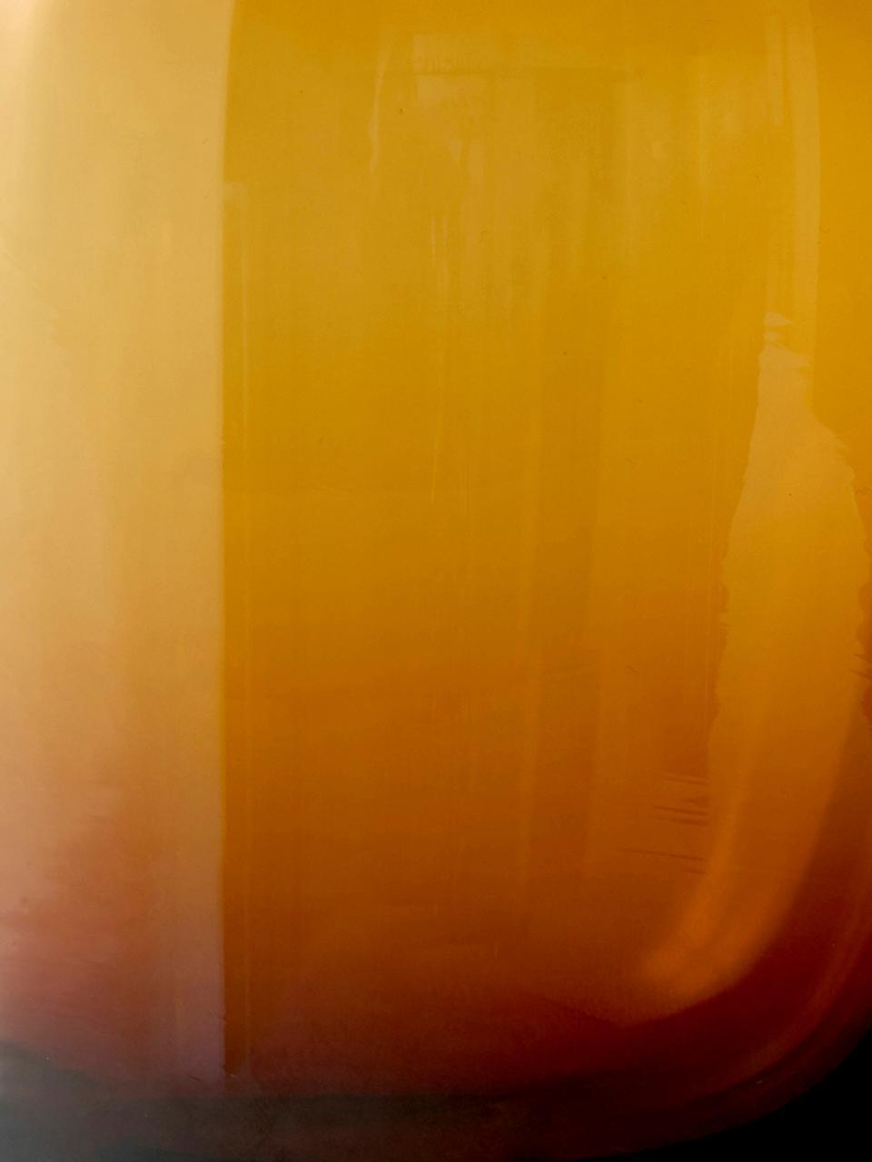 Wazon ze szkła dmuchanego Troll, Szkło dmuchane, Odcienie bursztynowego, Ø 13 x W 19 cm