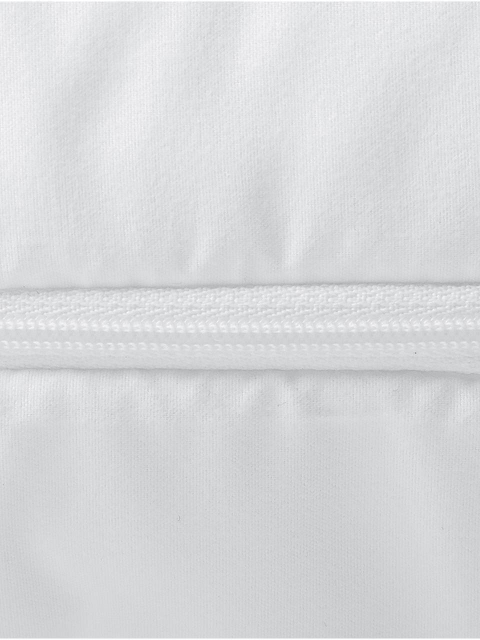 Microfaser-Kopfkissen, mittel, Bezug: Microfaser mit Rautenstep, Weiß, 80 x 80 cm