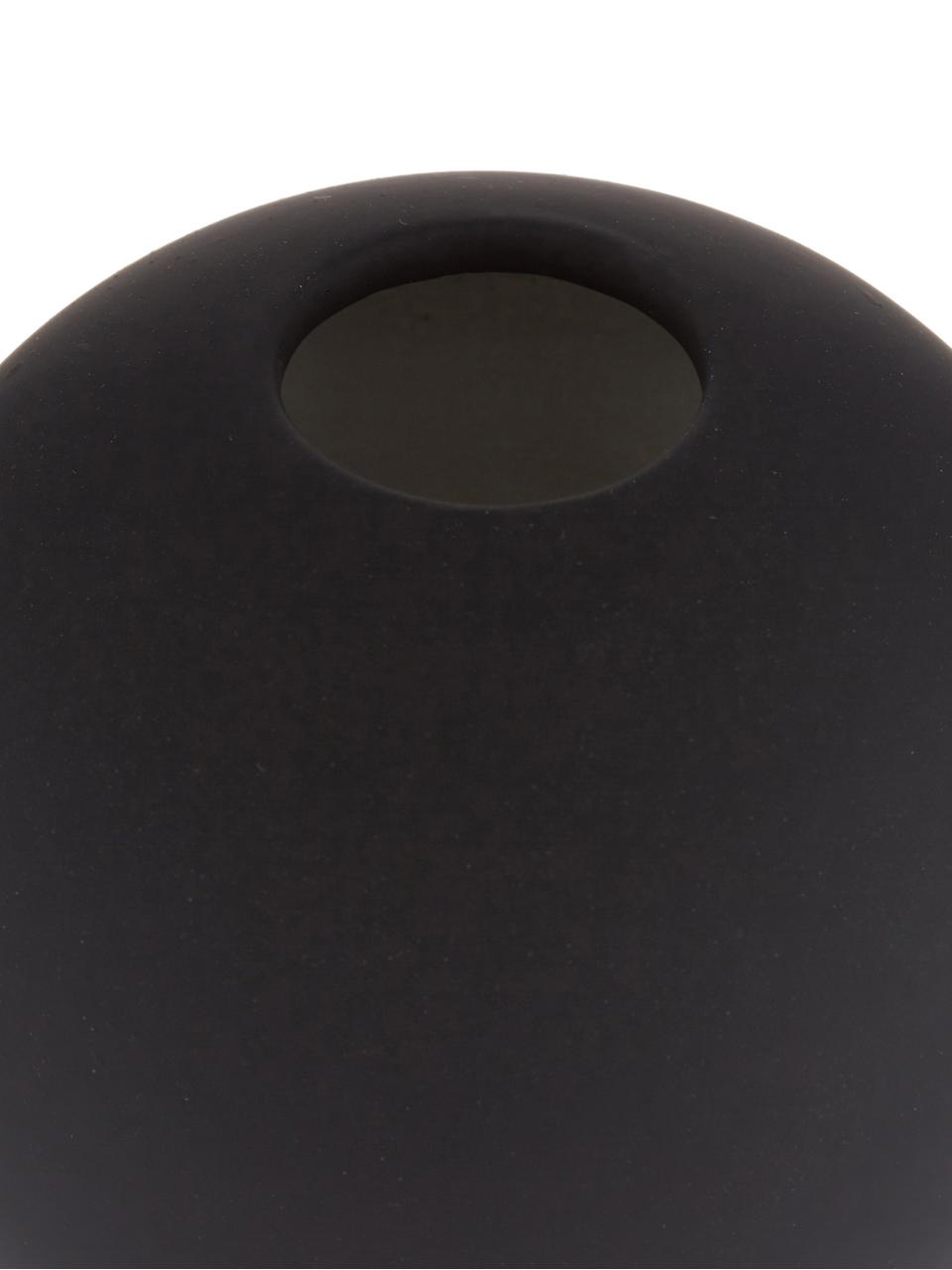Vase boule fait main Ball, Noir