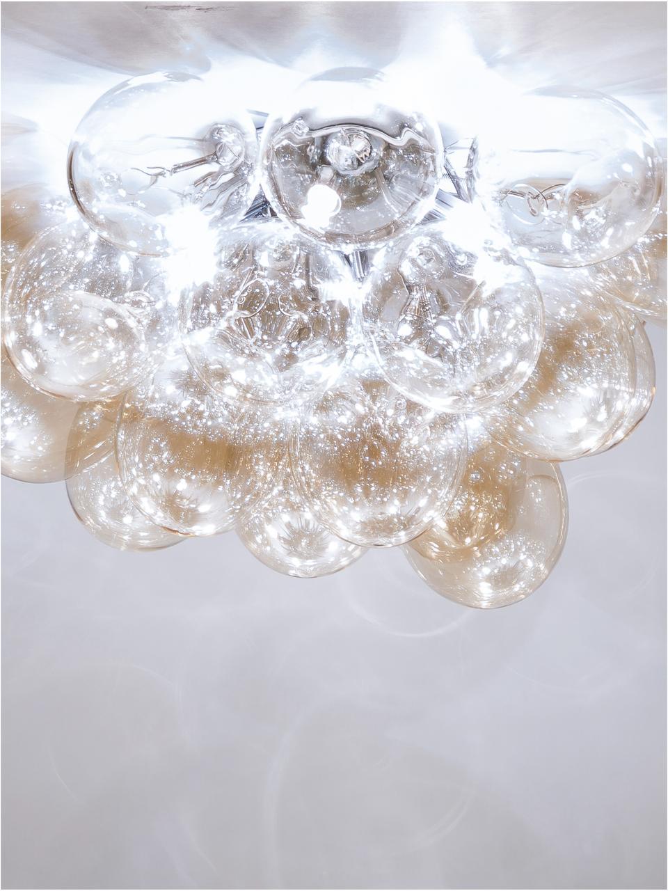 Plafonnier avec boules en verre Gross, Ambré