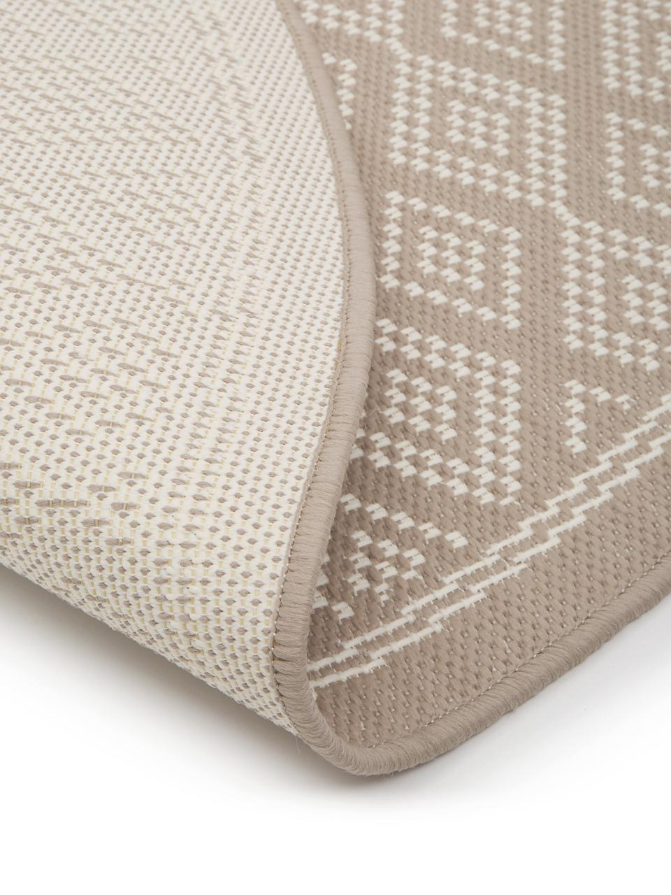 In- & Outdoor-Teppich Capri in Beige/Creme, 86% Polypropylen, 14% Polyester, Weiß, Beige, Ø 200 cm (Größe L)