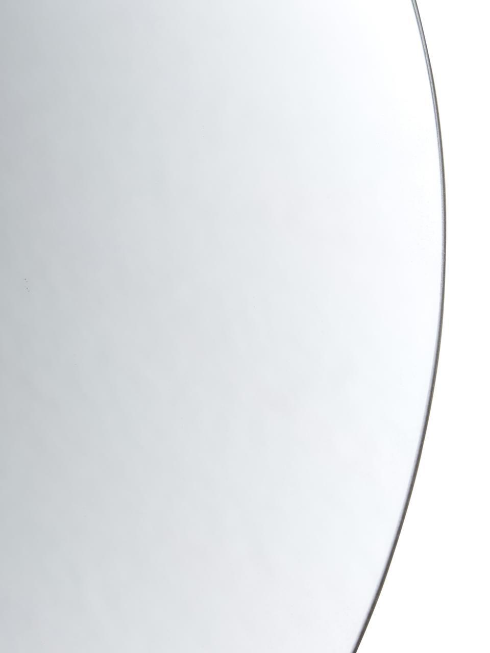 Specchio rotondo da parete senza cornice Erin, Superficie dello specchio: lastra di vetro, Retro: pannello di fibra a media, Superficie dello specchio: lastra di vetro Bordo esterno dello specchio: nero, Ø 40 cm