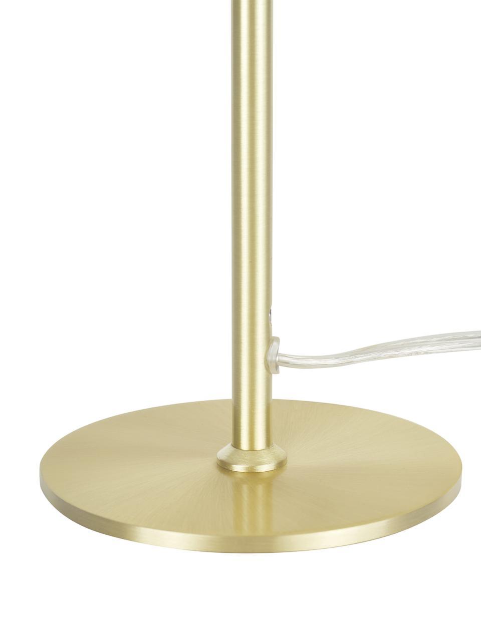 Stolová lampa Mathea, Biela, mosadzná