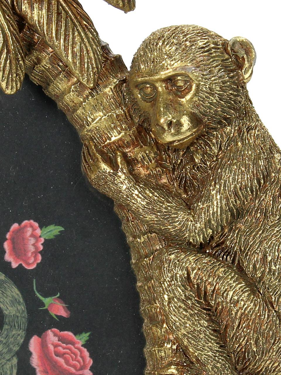 Ramka na zdjęcia Monkey, Poliresing, Odcienie złotego, 10 x 15 cm