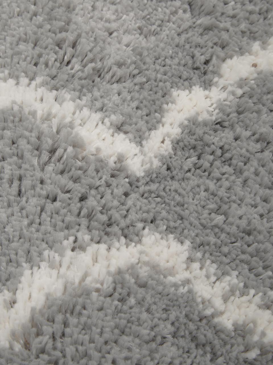 Tappeto a pelo lungo grigio/bianco crema Velma, Retro: 78% juta, 14% cotone, 8% , Grigio, bianco crema, Larg. 300 x Lung. 400 cm (taglia XL)