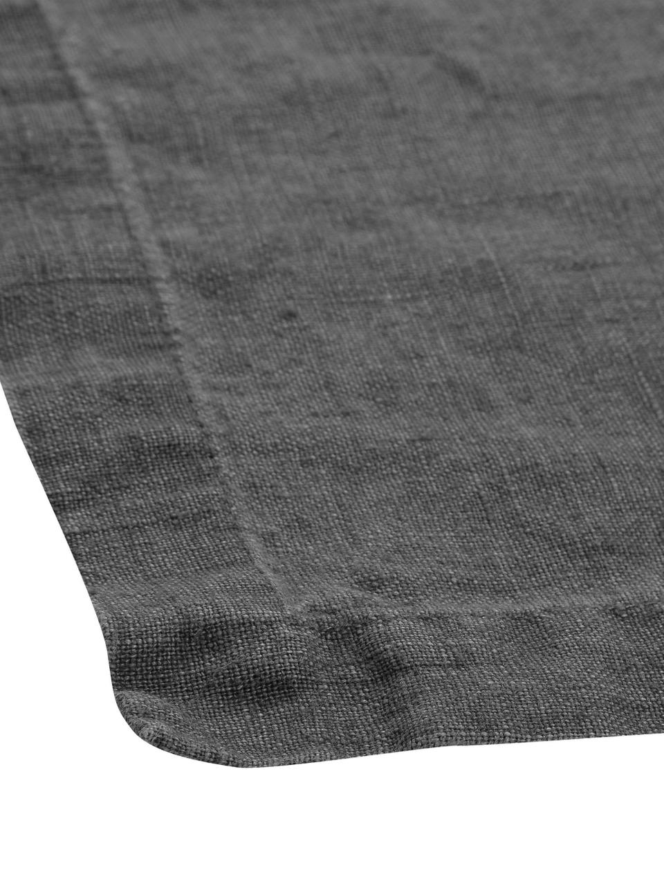 Tovaglia in lino Ruta, Grigio, Per 4-6 persone  (Larg. 130 x Lung. 170 cm)