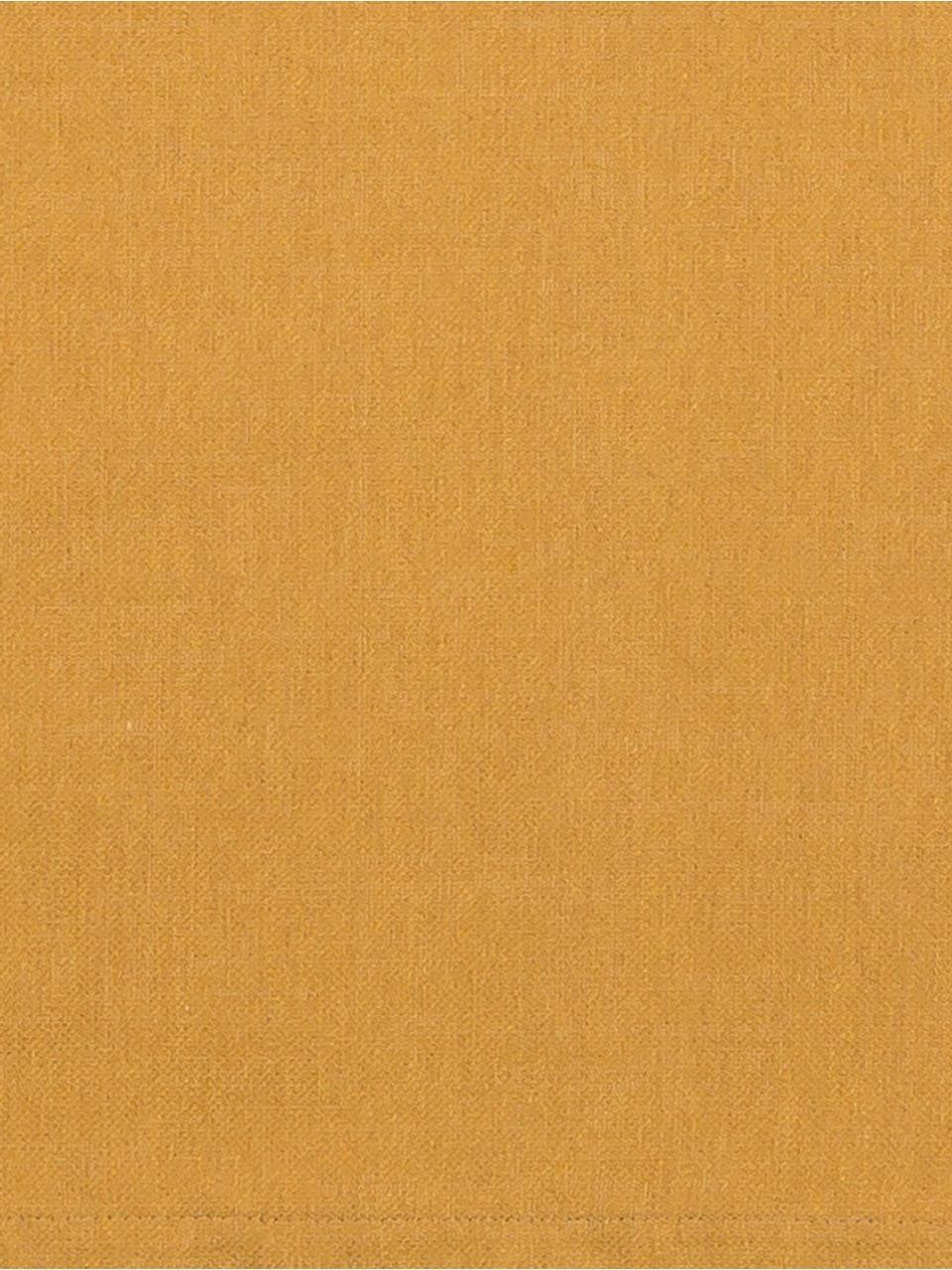 Tafelloper Riva van katoenmix in mosterdgeel, Weeftechniek: jacquard, Mosterdgeel, 40 x 150 cm