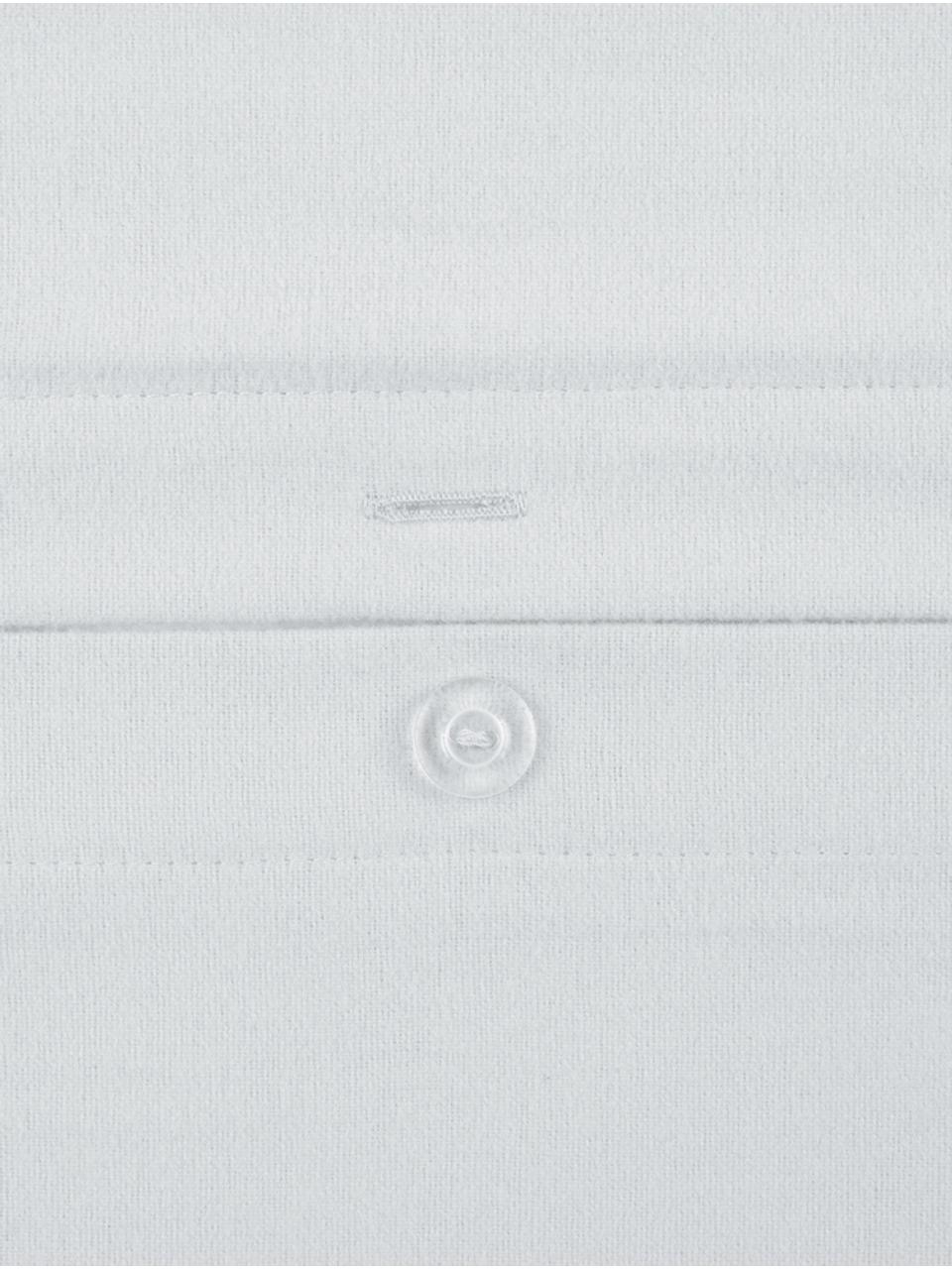 Flanell-Kissenbezüge Biba in Hellgrau, 2 Stück, Webart: Flanell Flanell ist ein k, Hellgrau, 40 x 80 cm