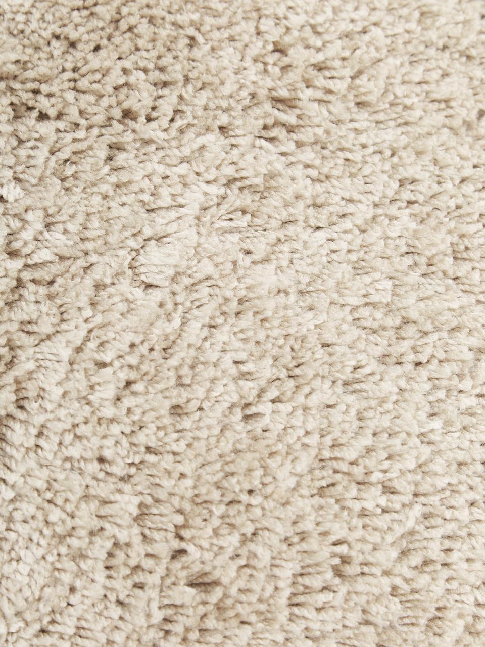 Flauschiger Hochflor-Läufer Dreamy mit Fransen, Flor: 100% Polyester, Creme, 80 x 250 cm