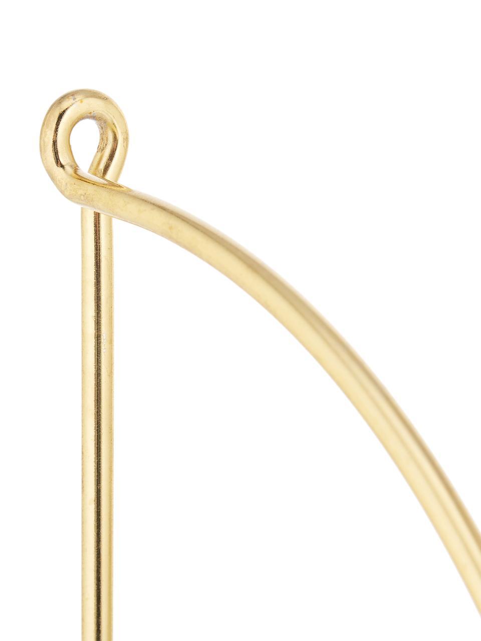Półka ścienna z marmuru Porter, Biały, odcienie złotego, S 40 x W 58 cm