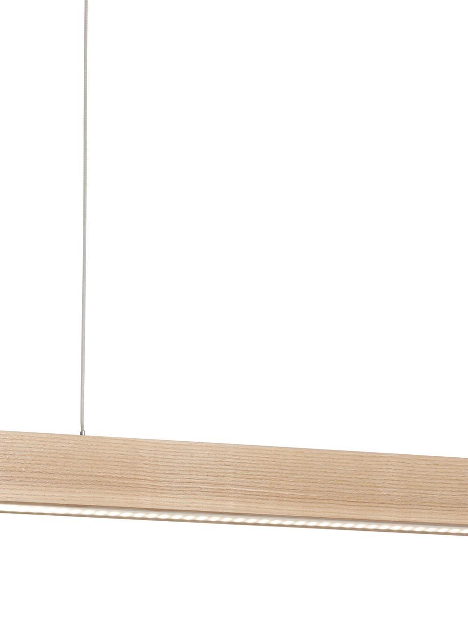 Velké závěsné LED svítidlo Timber, Dřevo