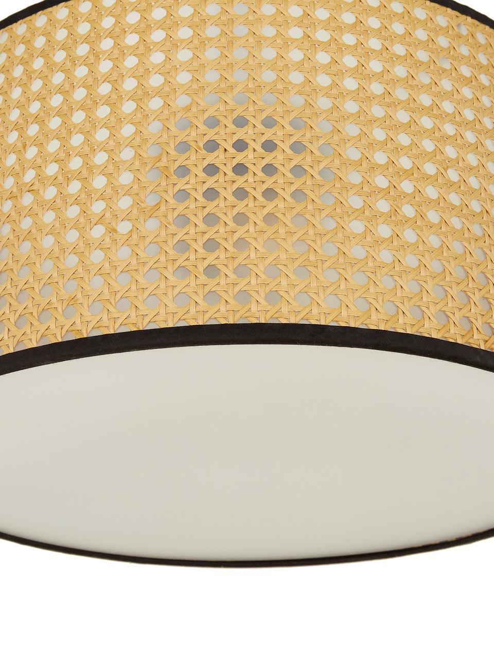 Plafonnier design Vienna, Abat-jour: beige, noir Rosace: noir mat