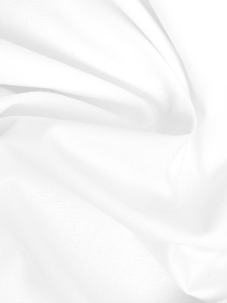 Poszewka na poduszkę z perkalu bawełnianego Joanna, 2 szt., Biały, szary, S 40 x D 80 cm