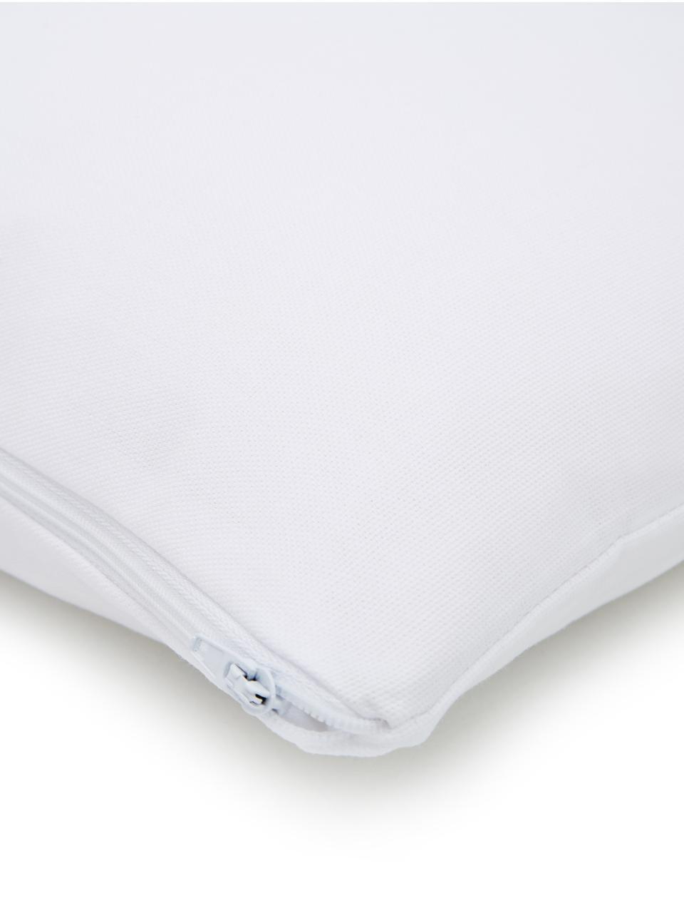 Housse de coussin 40x40 blanc Filomina, Blanc, noir