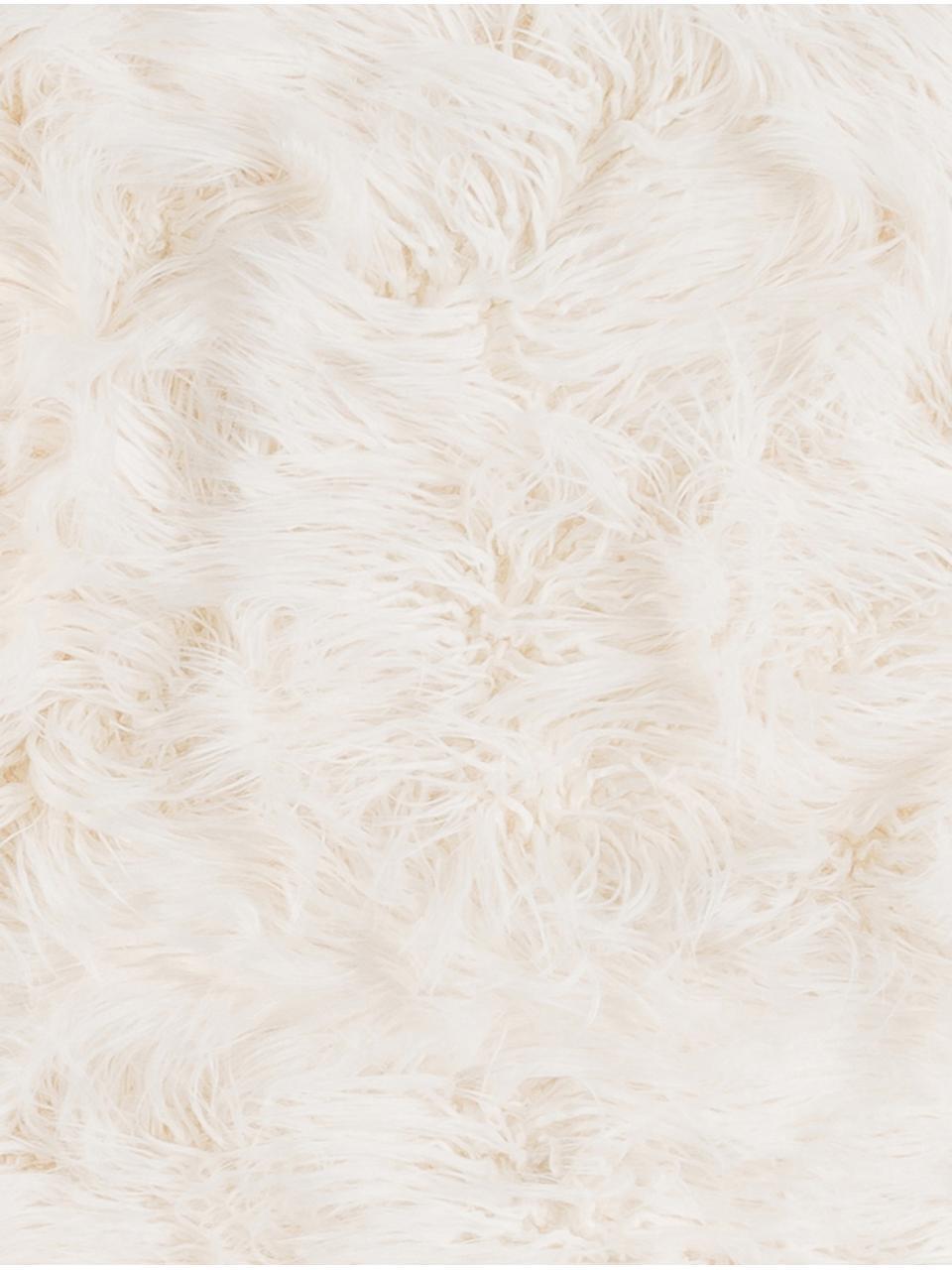 Plaid van imitatievacht Vita, Ivoorkleurig, 140 x 200 cm