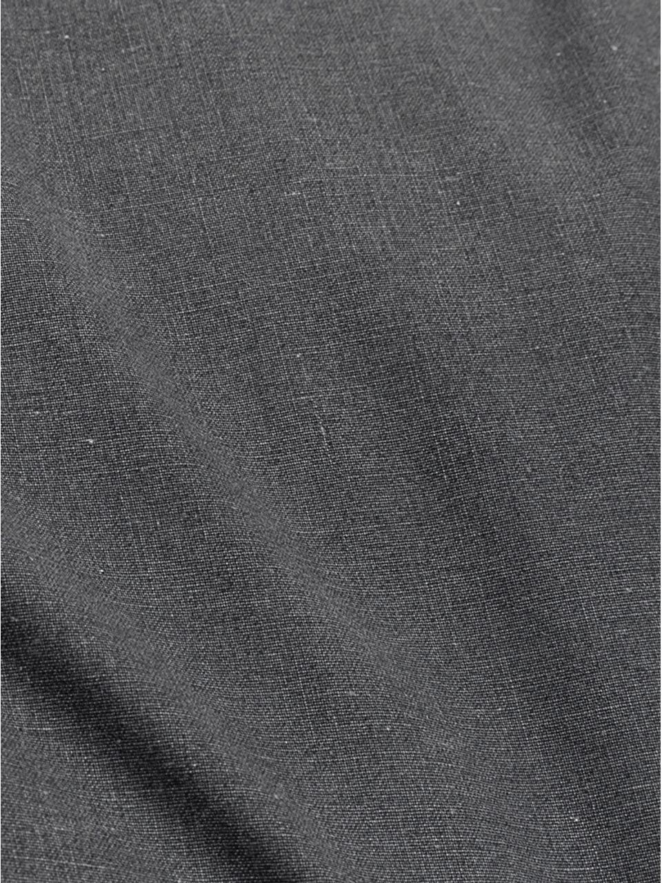 Gewassen katoenen dekbedovertrek Beat, Weeftechniek: renforcé, Antraciet, 140 x 220 cm