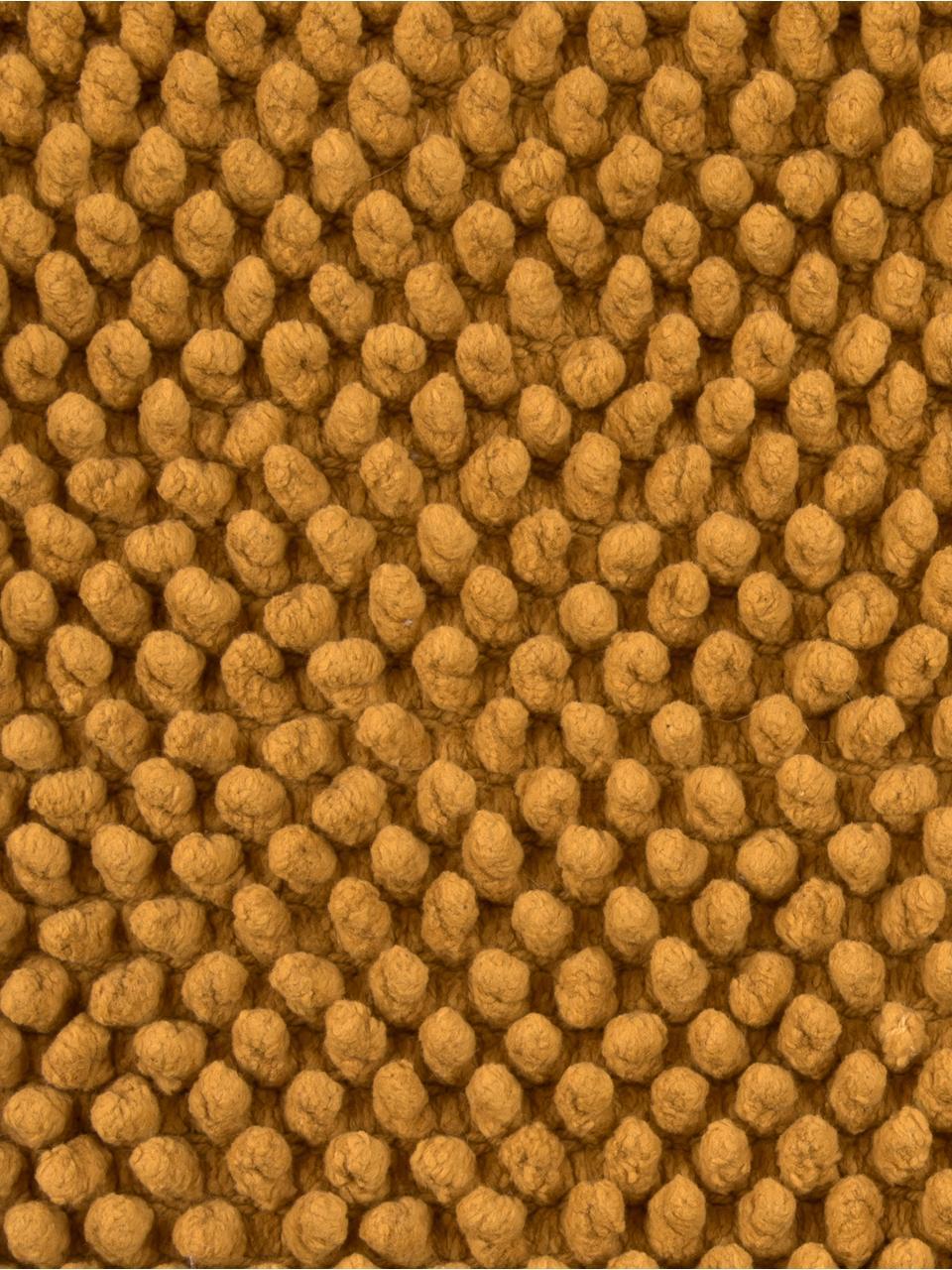 Poszewka na poduszkę z wypukłym wzorem Indi, 100% bawełna, Żółty, S 45 x D 45 cm