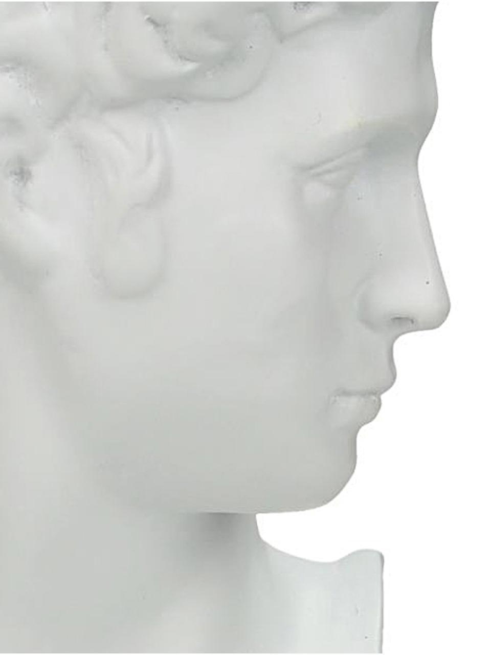 Kerzenhalter David, Polyresin, Weiß, 9 x 22 cm