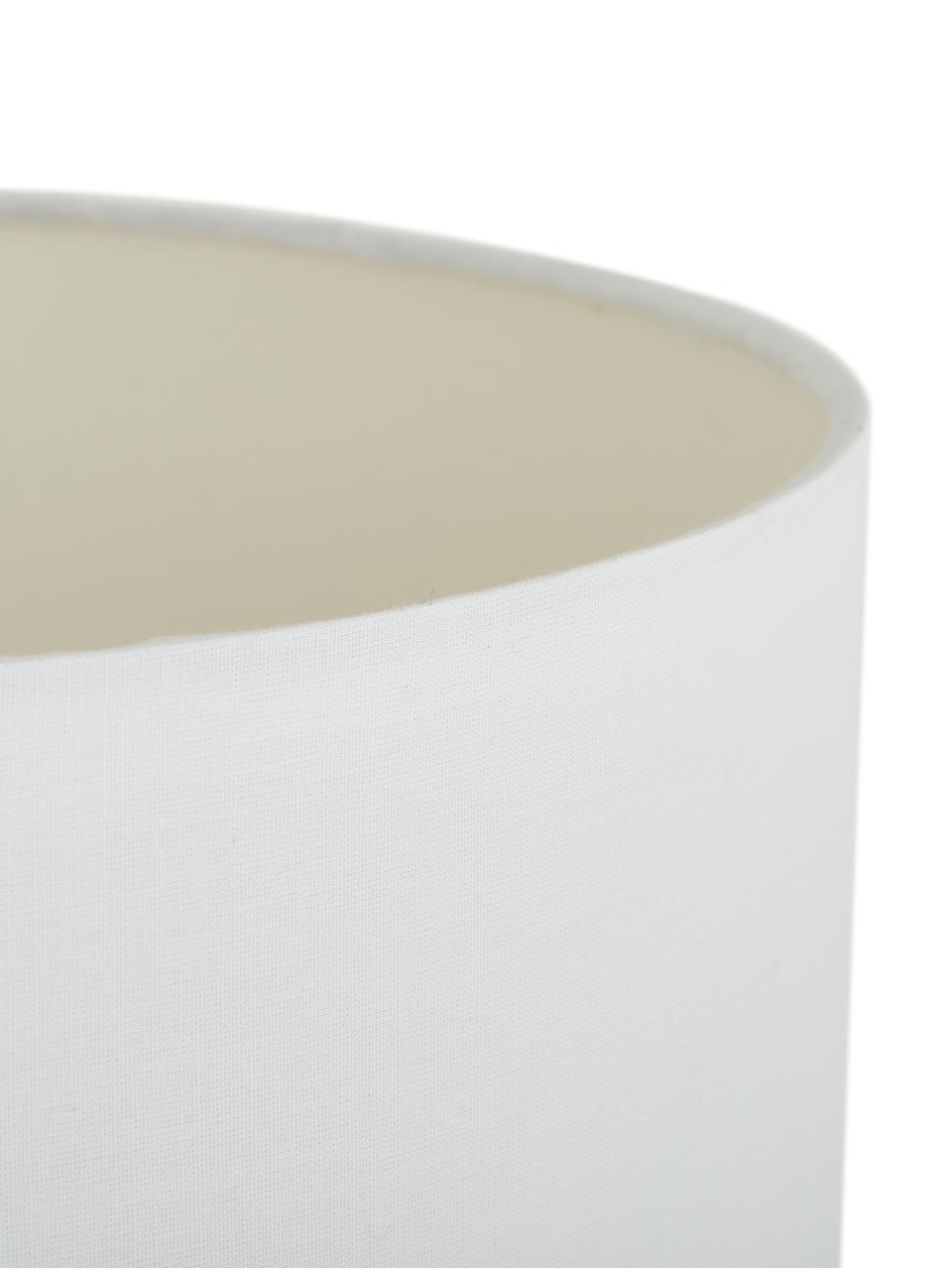 Tischlampe Eleanora in Weiß-Gold, Lampenschirm: Textil, Lampenfuß: Keramik, Weiß, Goldfarben, Ø 28 x H 47 cm