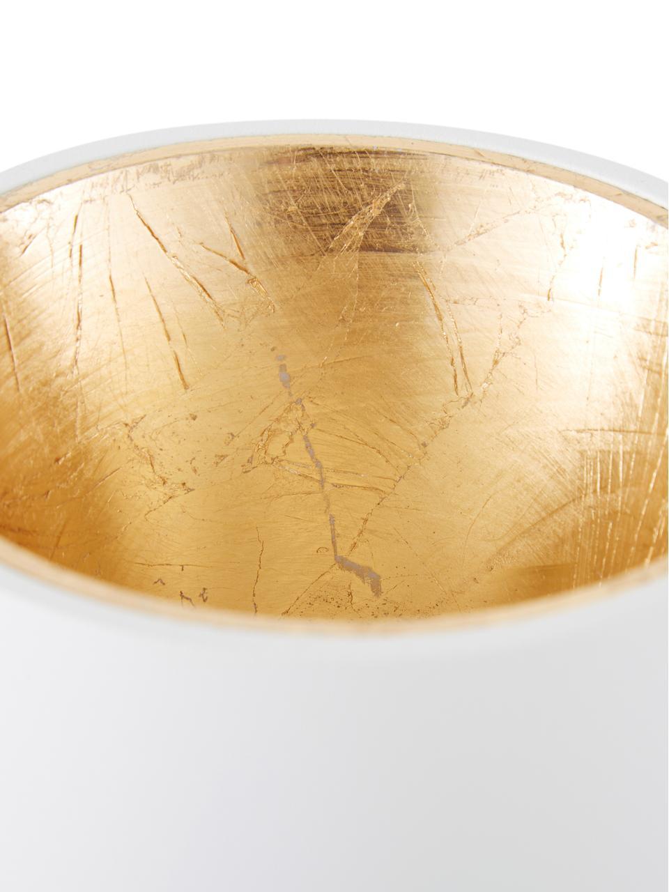 Faretto da soffitto a LED Marty, Bianco, dorato, Ø 10 x Alt. 12 cm