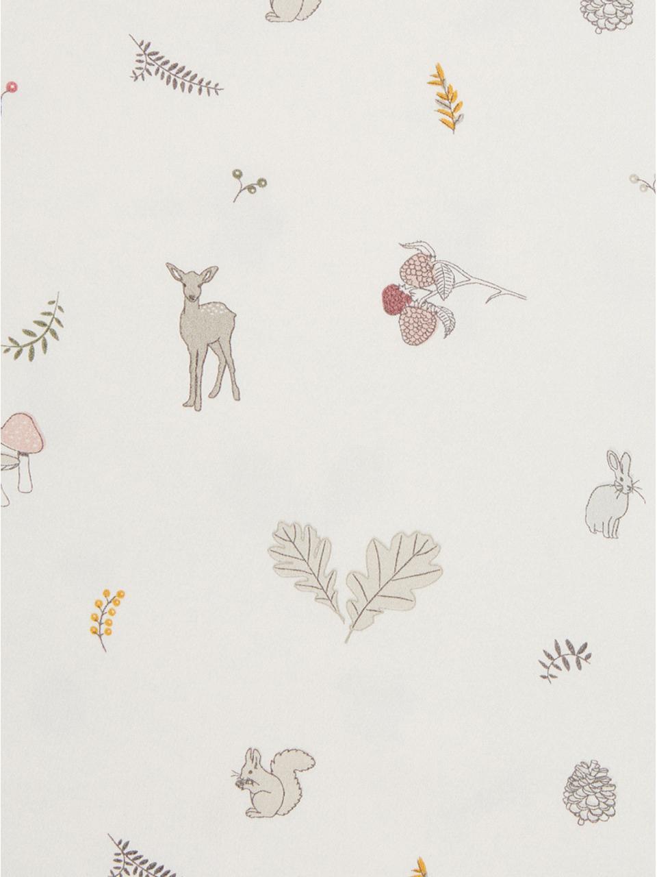 Baumwollsatin-Bettwäsche Fawn, Baumwollsatin, GOTS-zertifiziert, Weiß, Braun, Beige, Gelb, Rosa, Grün, 100 x 135 cm