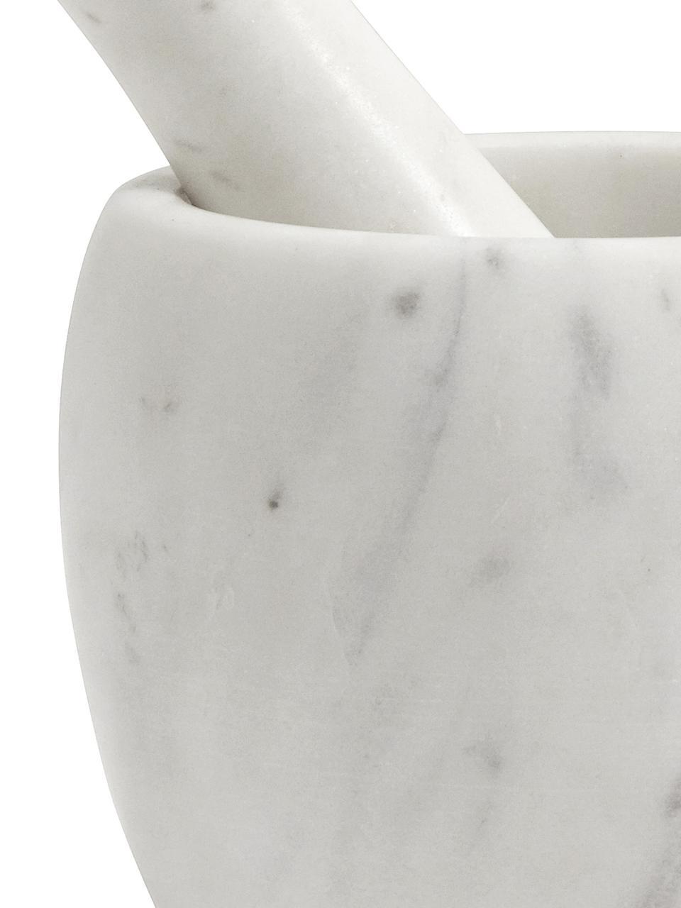 Mramorová třecí miska s tloučkem Mortar, 2 díly, Bílá