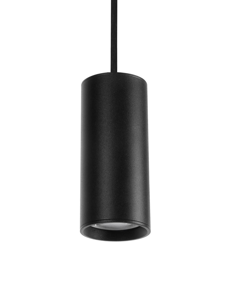 Kleine Moderne Pendelleuchte Aila, Lampenschirm: Aluminium, beschichtet, Baldachin: Aluminium, beschichtet, Schwarz, Ø 6 x H 20 cm