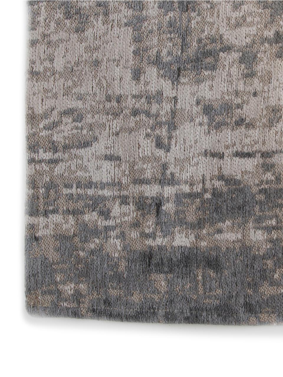 Tappeto Griff, Tessuto: Jacquard, Retro: Miscela di cotone, rivest, Tonalità grigie, bianco, Larg. 200 x Lung. 280 cm (taglia L)