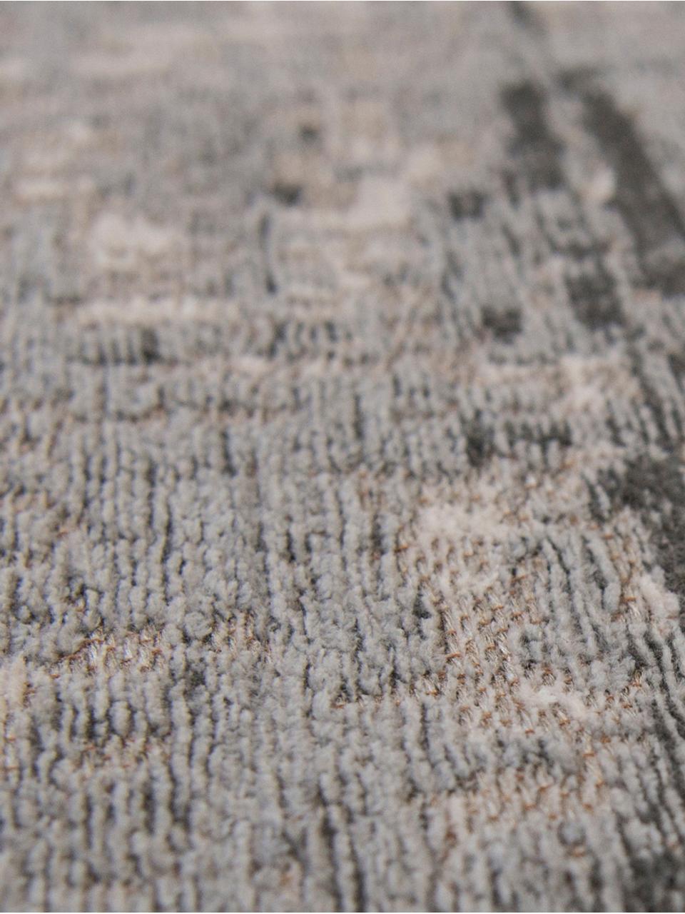 Teppich Griff, Vorderseite: 85%Baumwolle, 15%hochgl, Webart: Jacquard, Rückseite: Baumwollgemisch, latexbes, Grautöne, Weiß, B 200 x L 280 cm (Größe L)