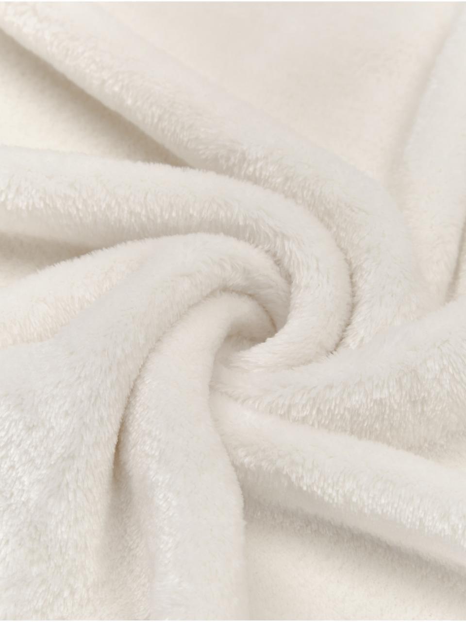 Fleece-Plaid Bomla, 100% Polyester, Creme, 130 x 170 cm