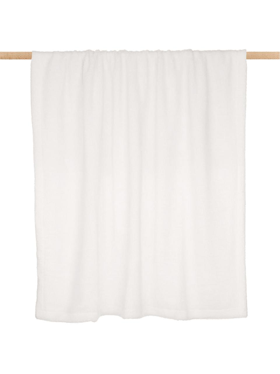 Plaid in teddy color crema Mille, Retro: 100% poliestere, Crema, Larg. 150 x Lung. 200 cm