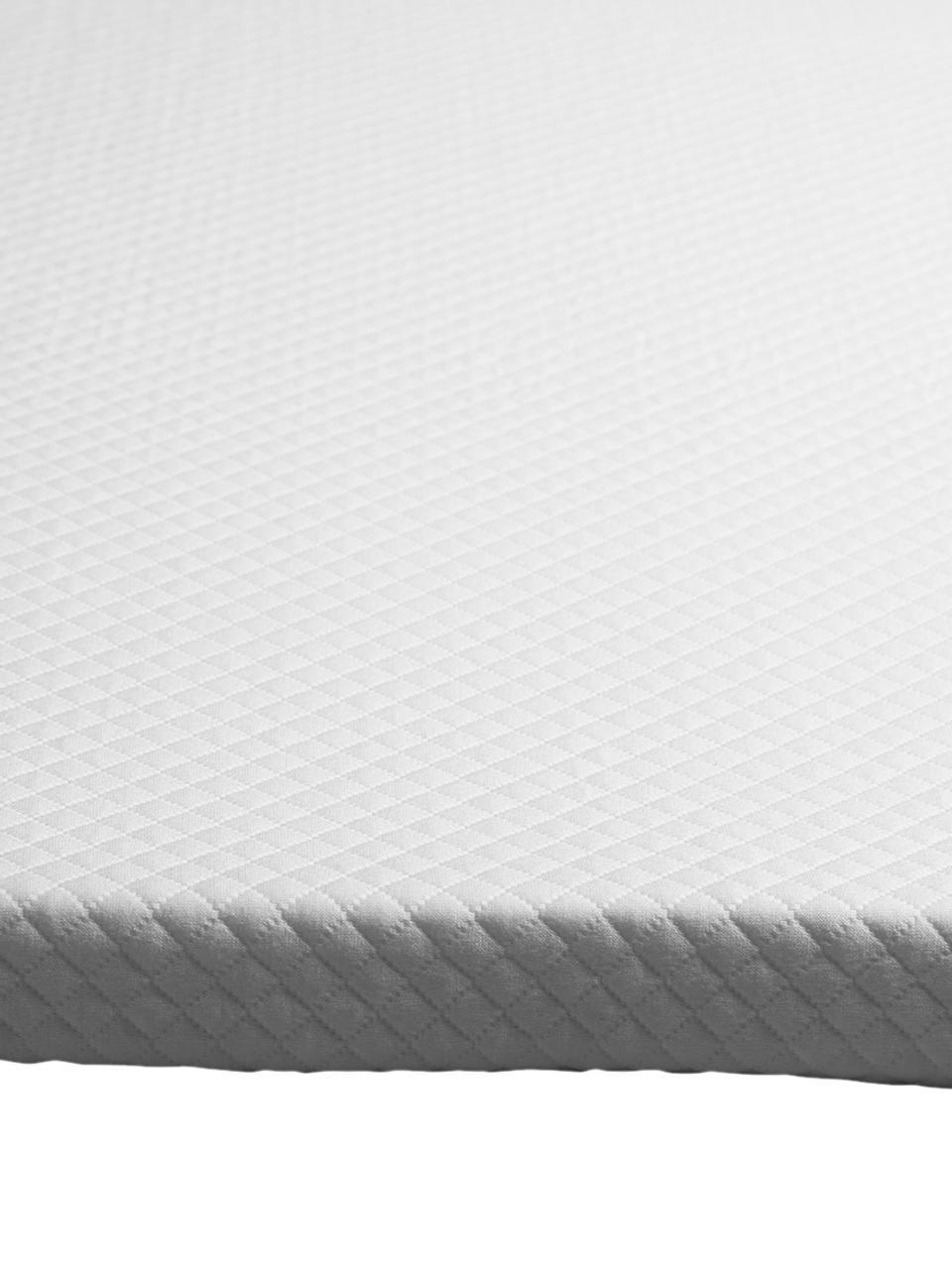 Viscoelastische Memory-Foam Matratzenauflage Premium, Bezug: 60% Polyester, 40% Viskos, Weiß, 200 x 200 cm