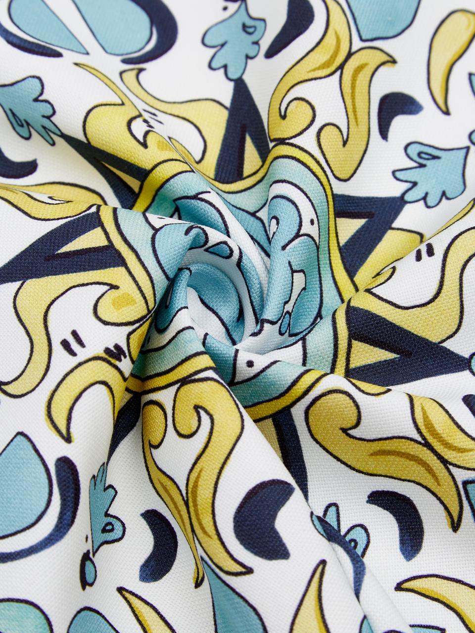 Gemusterte Kissenhüllen Evora, 2er-Set, 100% Baumwolle, Mehrfarbig, 40 x 40 cm