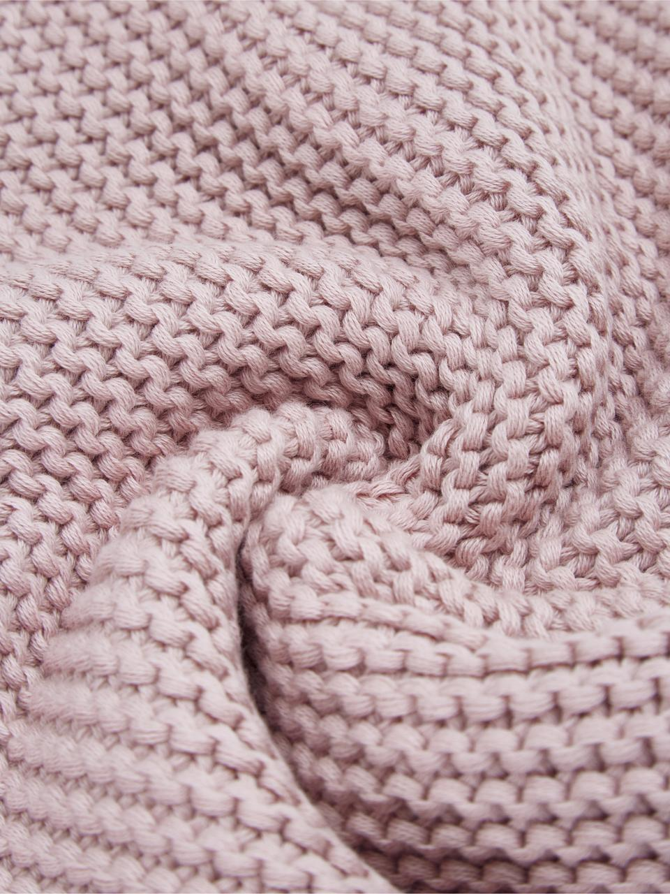 Plaid en tricot rose Adalyn, Vieux rose