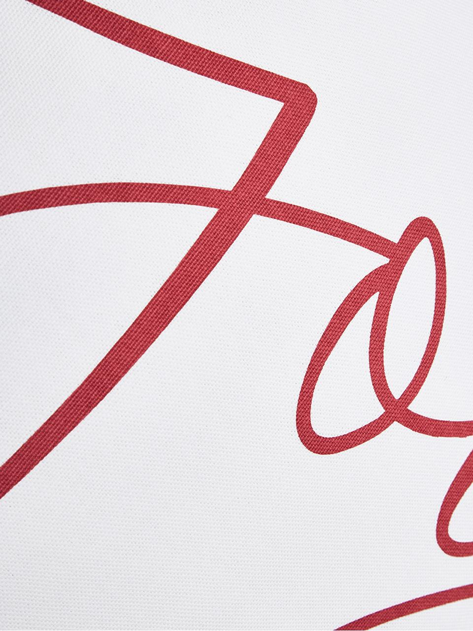Funda de cojín joy, 100%algodón, Blanco, rojo, An 40 x L 40 cm