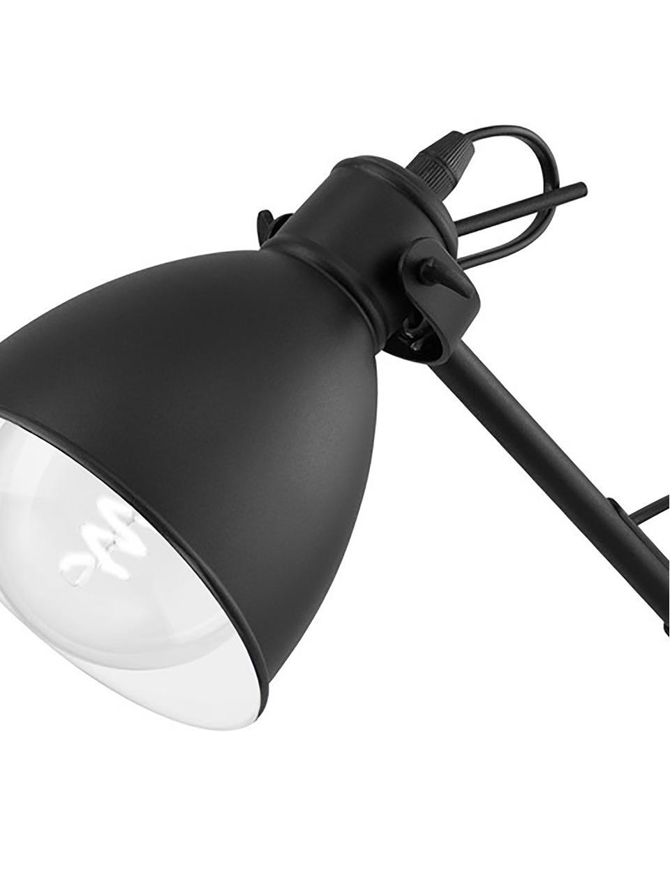 Industrial Schreibtischlampe Ethan, Lampenschirm: Metall, pulverbeschichtet, Lampenfuß: Metall, pulverbeschichtet, Schwarz, Ø 15 x H 43 cm