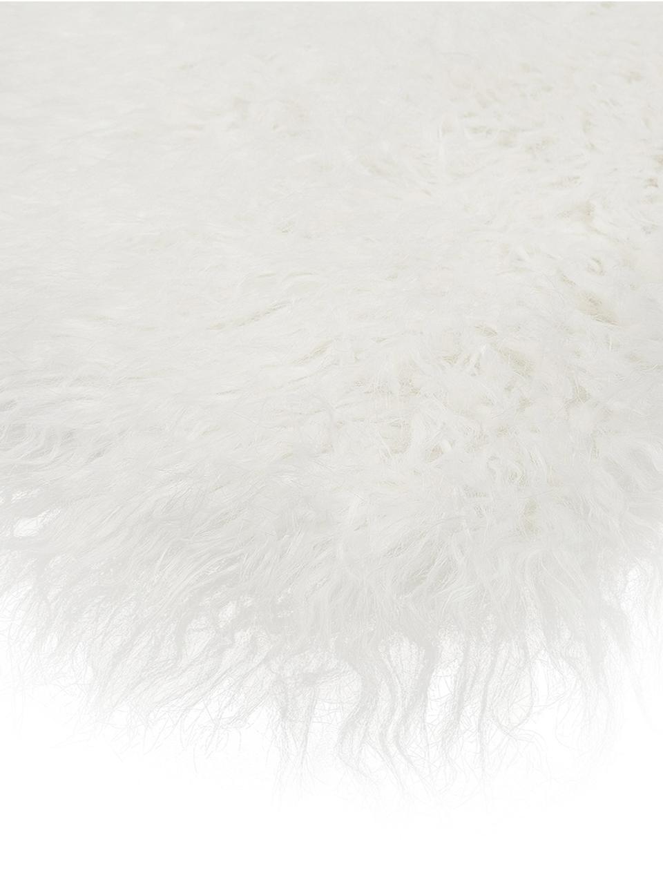 Kunstfell-Teppich Morten, gelockt, Vorderseite: 67% Acryl, 33% Polyester, Rückseite: Polyester, Creme, 60 x 180 cm