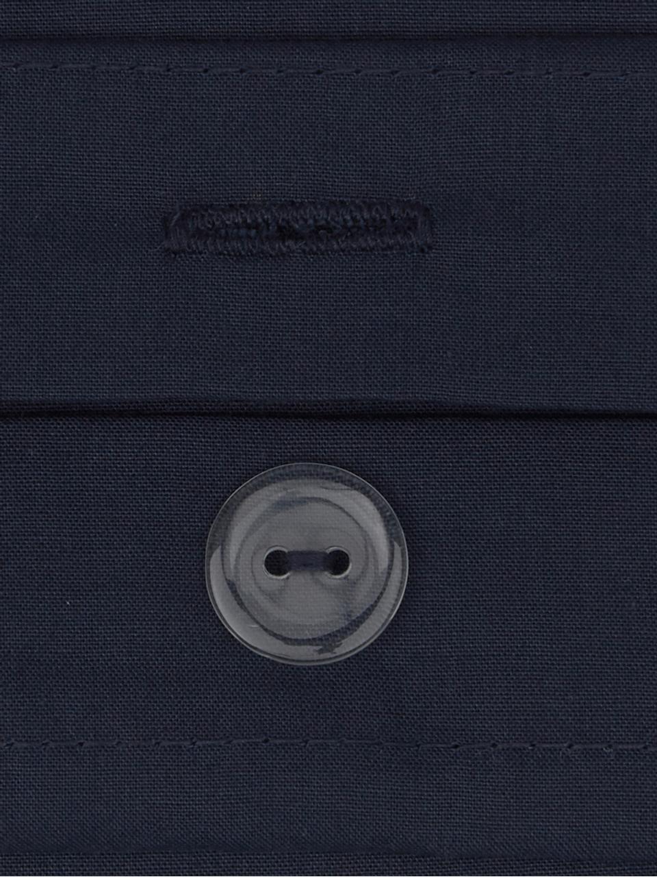 Baumwollperkal-Bettwäsche Elsie in Dunkelblau, Webart: Perkal Fadendichte 200 TC, Dunkelblau, 135 x 200 cm + 1 Kissen 80 x 80 cm