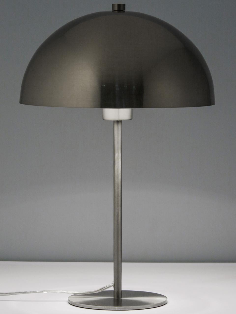 Lampada da tavolo in metallo Matilda, Paralume: metallo nichelato, Base della lampada: metallo nichelato, Nichel, Ø 29 x Alt. 45 cm