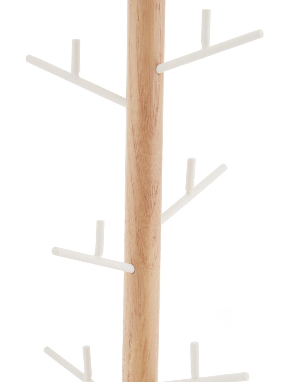 Schmuckhalter Tosca, Stange: Holz, Weiß, Braun, 13 x 36 cm