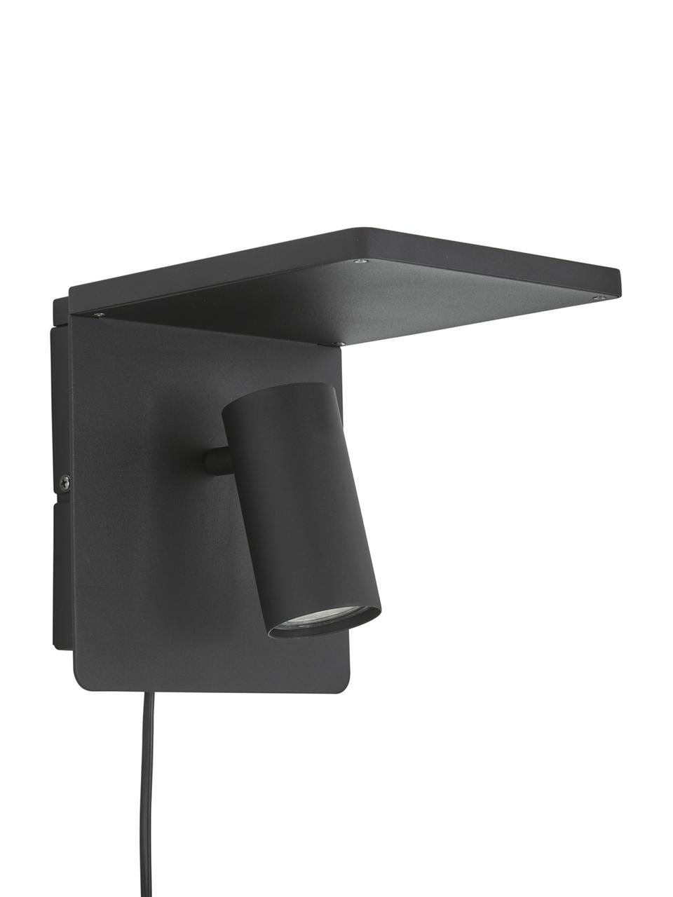 Applique a LED Chandler, Paralume: metallo verniciato a polv, Nero, Larg. 19 x Alt. 21 cm