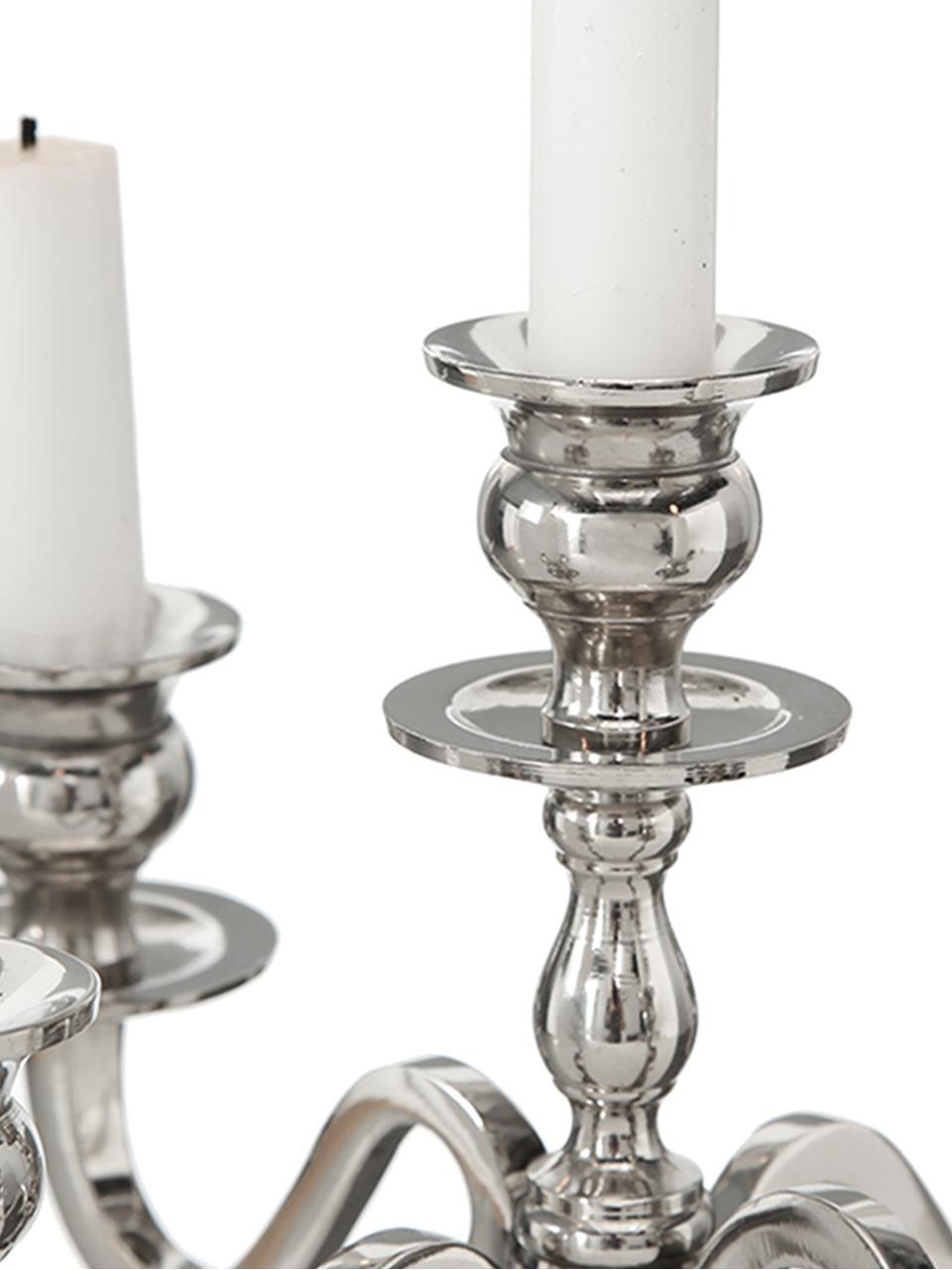 Kerzenleuchter Classy II, Metall, Silber, 31 x 50 cm