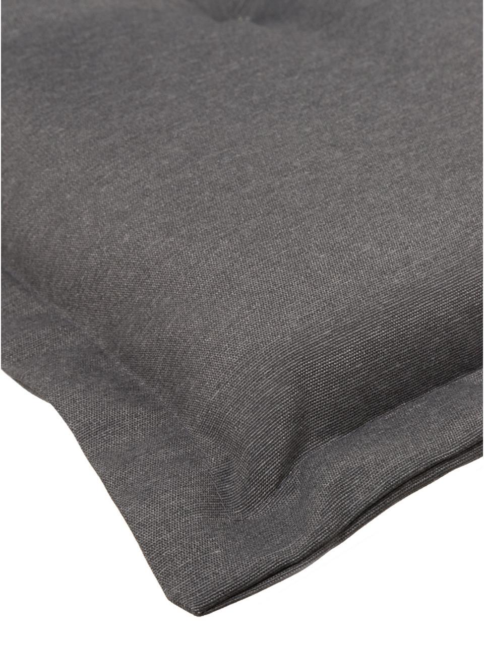 Nakładka na siedzisko z oparciem Panama, Tapicerka: 50% bawełna, 50%polieste, Szary, S 50 x D 123 cm