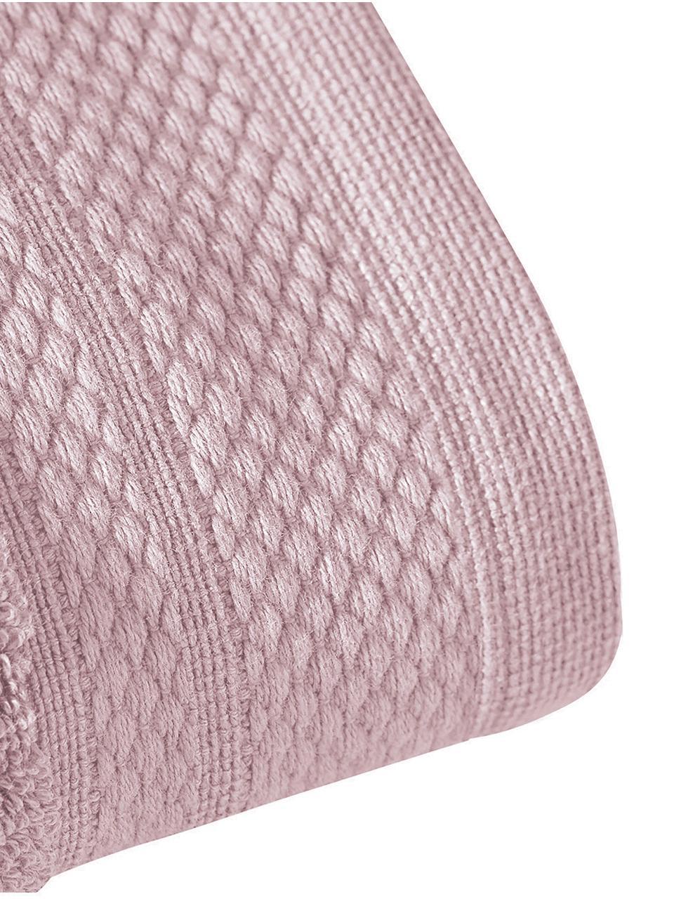 Lot de serviettes de bain avec bordure classique Premium, 3élém., Vieux rose
