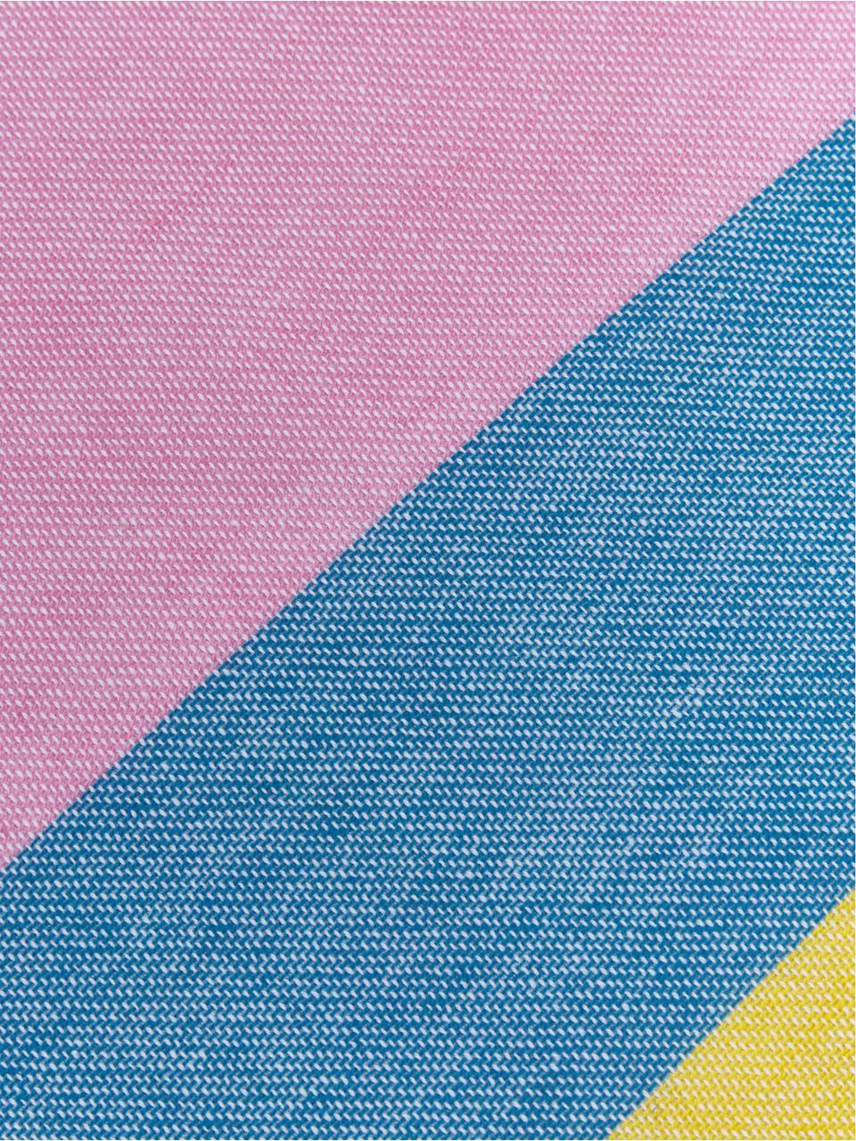 Hamamdoek Holidays, Katoen, lichte kwaliteit, 210 g/m², Geel, blauw, roze, groen, violet, 90 x 180 cm